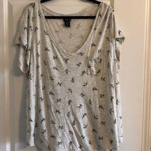 Torrid bird shirt
